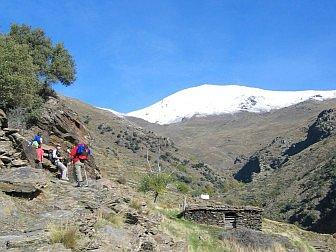 Bergwanderen am Fusse des Mulhacen